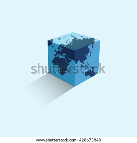 World map colorful earth form cube stock vector 428675848 world map colorful earth in the form of a cube vector illustration sciox Gallery