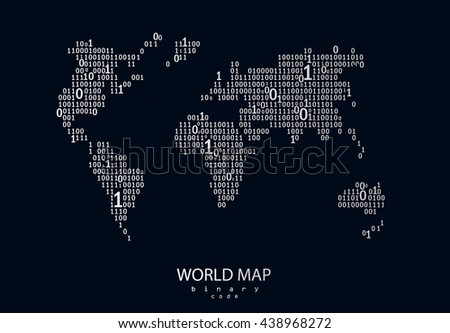 World map consist binary code vector stock vector hd royalty free world map consist of binary code vector background for your presentation poster website gumiabroncs Image collections
