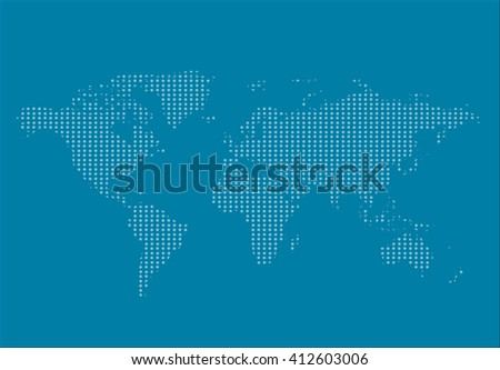 World Map Countries Colorful Dots Vector Stock Vector - Earth map countries