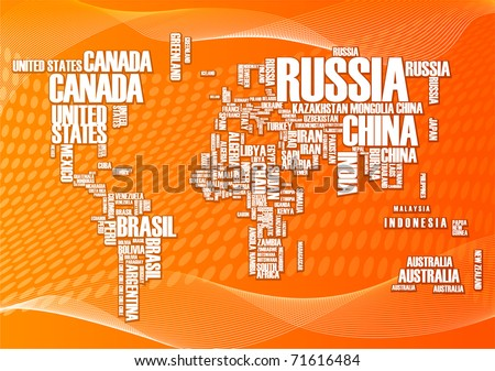 World map countries wordcloud stock vector 71616484 shutterstock world map countries in wordcloud gumiabroncs Choice Image