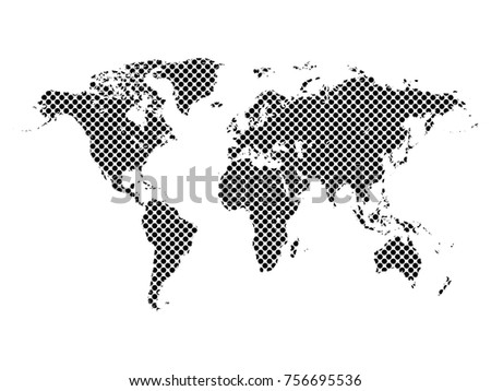 World map dots elements separated abstract stock vector 756695530 world map dotsl elements are separated abstract linear polygonal white background vector illustration gumiabroncs Images