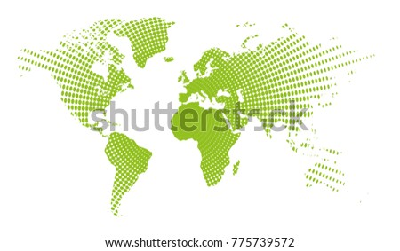 World map dots all elements separated stock vector 775739596 world map dots all elements are separated abstract linear polygonal white background vector illustration gumiabroncs Images