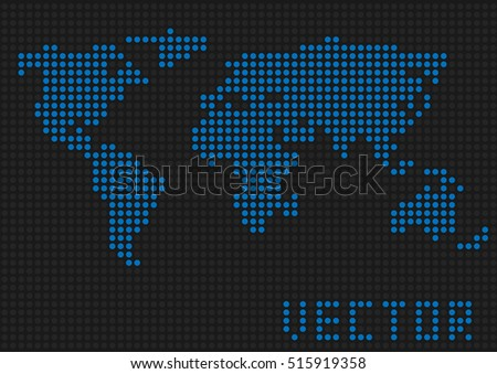World map dots blue pixels earth stock vector 515919358 shutterstock world map dots blue pixels earth vector illustration gumiabroncs Choice Image