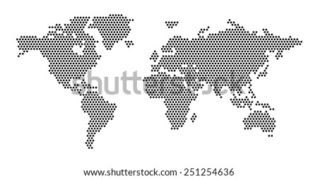 World map dots EPS 10 - stock vector