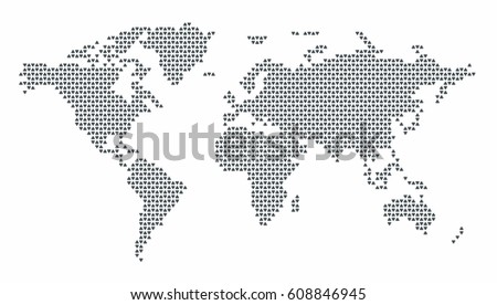 World map dotted dotted world map stock vector 608846945 world map dotted dotted world map on white background abstract computer graphic world map gumiabroncs Gallery