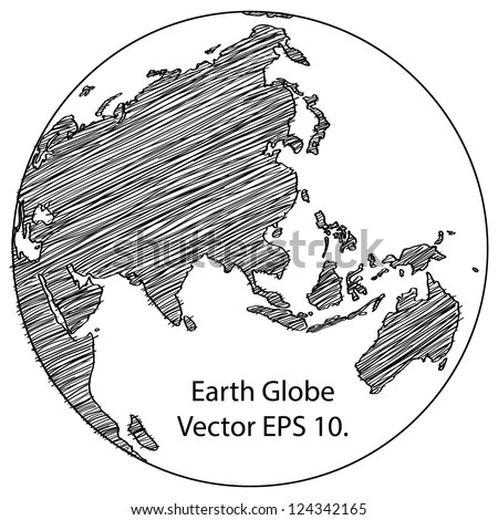 World map earth globe vector line stock vector 124342165 shutterstock world map earth globe vector line sketched up illustrator eps 10 gumiabroncs Gallery