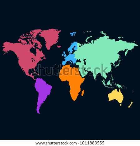 World map europe asia america africa stock vector 1011883555 world map europe asia america africa australia gumiabroncs Images