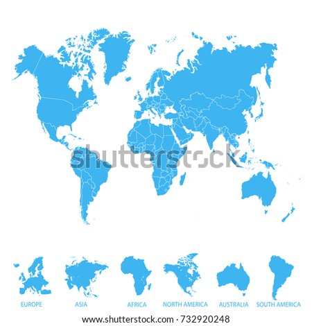 World map europe asia america africa vectores en stock 732920248 world map europe asia america africa australia gumiabroncs Image collections