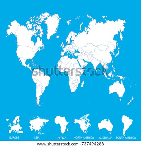 World map europe asia america africa stock vector hd royalty free world map europe asia america africa australia gumiabroncs Images