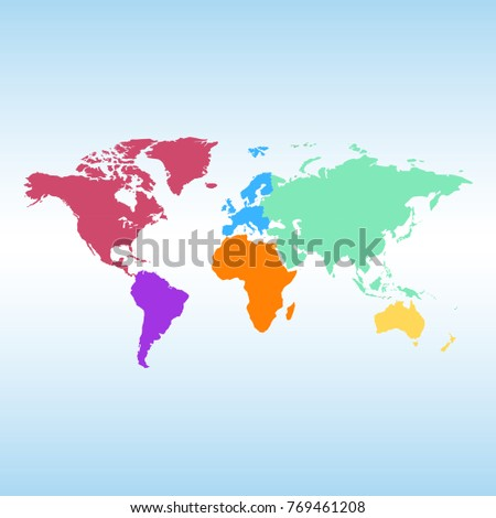 World map europe asia america africa vector de stock769461208 world map europe asia america africa australia gumiabroncs Image collections
