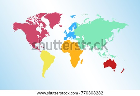 World map europe asia america africa vectores en stock 770308282 world map europe asia america africa australia gumiabroncs Choice Image