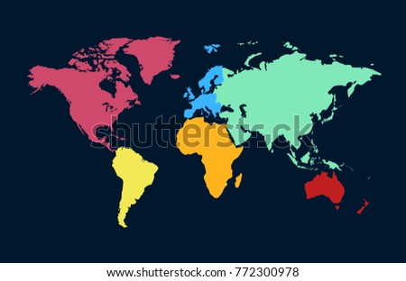 World map europe asia america africa stock photo photo vector world map europe asia america africa australia gumiabroncs Image collections