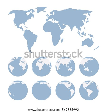 World map flat image projection representing stock vector hd world map flat image projection representing the surface of the earth and three dimensional gumiabroncs Images
