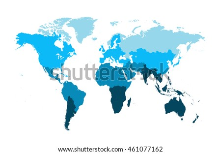 World map flat vector blue color stock vector royalty free world map flat vector blue color gumiabroncs Choice Image