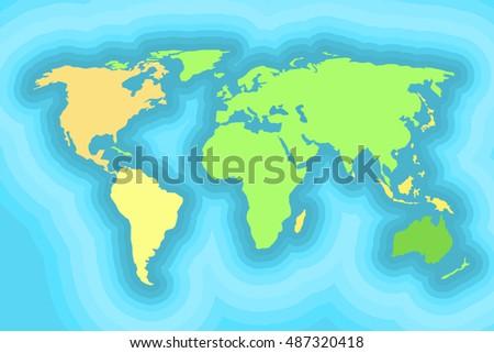 World map kids wallpaper design vector vectores en stock 487320418 world map for kids wallpaper design vector illustration gumiabroncs Images
