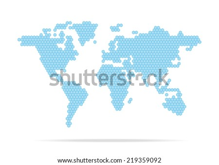 World map geometric abstract design on white background eps 10 vector