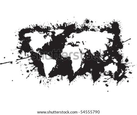 World map graffiti reverse vector de stock54555790 shutterstock world map graffiti reverse gumiabroncs Choice Image