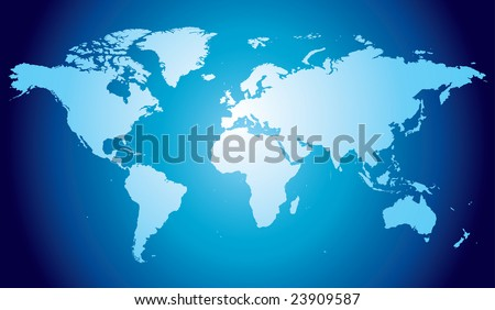 World map, hand drawn and highly detailed - stock vector