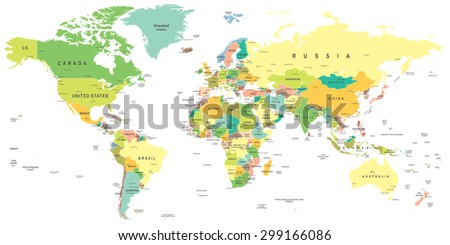World map - highly detailed vector illustration