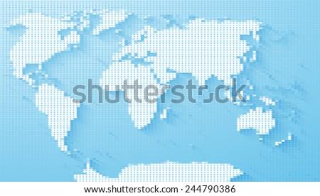 World Map Illustration - stock vector