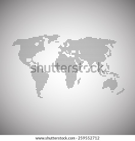 world map illustration and infographics design  - stock vector
