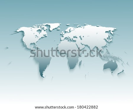 World Map Illustration. Vector.