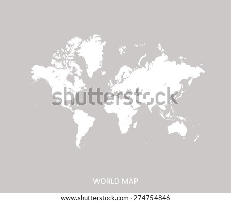 World map in a faded background for web page template or construction - stock vector
