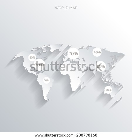 World map flat styleearthgloberoute planning asiaafricanorth stock world map in a flat styleearthglobeute planningp of gumiabroncs Choice Image