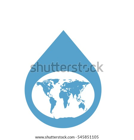 World map water drop flat design vectores en stock 545851105 world map in a water drop flat design abstract concept vector illustration gumiabroncs Gallery
