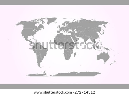 World map in an abstract background, a conceptual design of world map with strips and earth sphere for web-page template or construction - stock vector