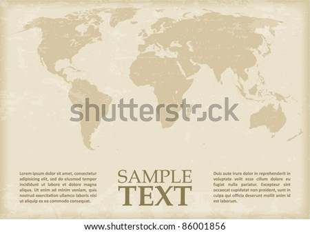 World Map in antique style. Vector - stock vector