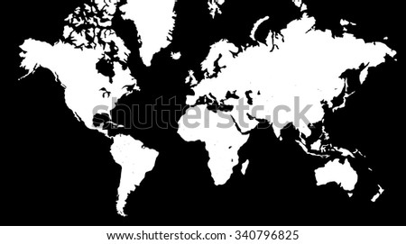 World map black background stock vector hd royalty free 340796825 world map in black background gumiabroncs Image collections