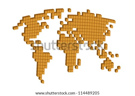 World map cube on white illustration stock vector 114489205 world map in cube on white illustration sciox Gallery