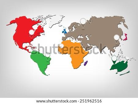World map infographic.Vector illustration - stock vector