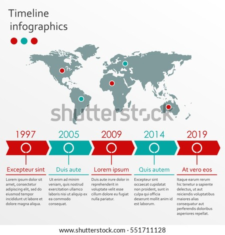 World map infographics template timeline infographic stock vector world map infographics template timeline infographic stock vector royalty free 551711128 shutterstock gumiabroncs Gallery