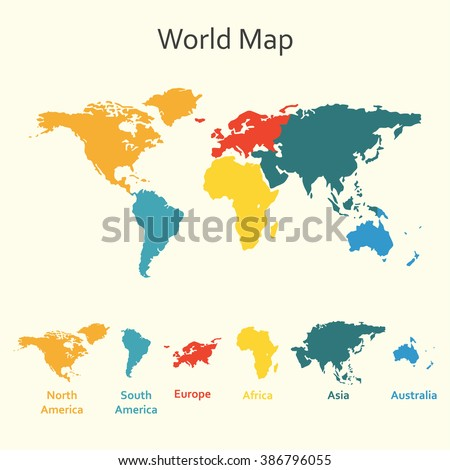 World map infographics vector design template stock vector world map infographics vector design template of world map with continents gumiabroncs Images