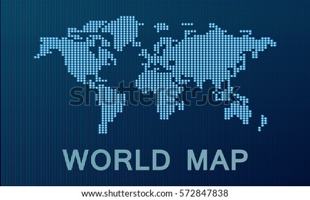 World map made dots grayblue background stock vector hd royalty world map is made up of dots gray blue background gumiabroncs Image collections