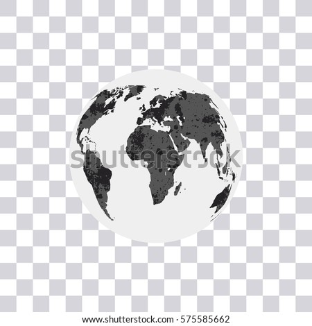 World map isolated on transparent background stock vector 575585662 world map isolated on transparent background earth globe modern monochrome world map vector gumiabroncs Image collections