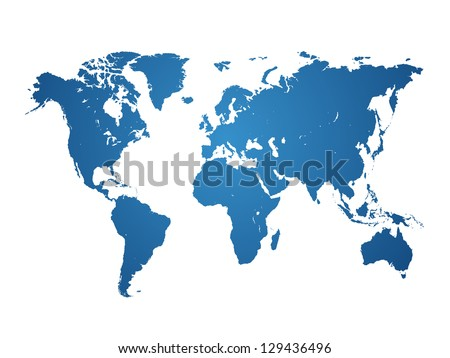 World Map isolated - vector illustration - stock vector