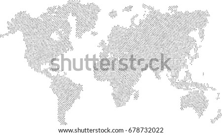 World map letters vector background stock vector 678732022 world map letters vector background gumiabroncs Images