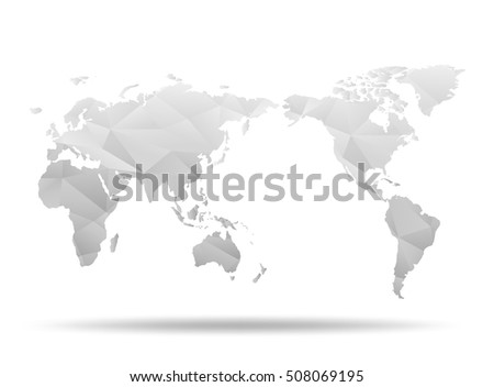World map low poly design white stock vector 508069195 shutterstock world map low poly design white origami planet vector illustration gumiabroncs Images