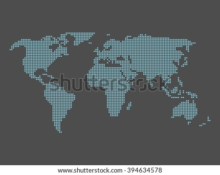 World map made squares vector de stock394634578 shutterstock world map made of squares gumiabroncs Choice Image