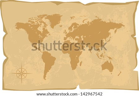 world map old style vector