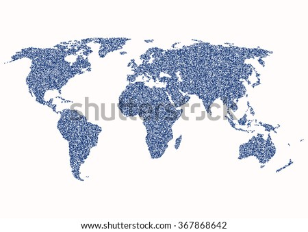 World map on a white background. Vector illustration. - stock vector