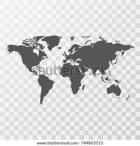 World map on transparent background stock vector royalty free world map on transparent background gumiabroncs Choice Image