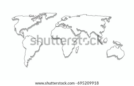World map outline 3d graphic vector vectores en stock 695209918 world map outline 3d graphic vector design gumiabroncs Gallery