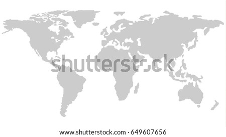 Gray world map countries stock vector 611135456 shutterstock world map outline isolated on white background in light grey color modern web design vector gumiabroncs Gallery