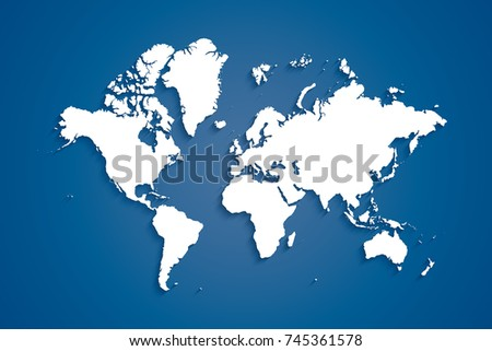 World map popular world map vector stock vector 745361578 shutterstock world map popular world map vector globe template for website design cover gumiabroncs Image collections