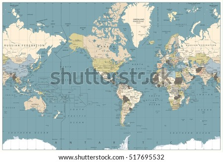 Old World Map Stock Images RoyaltyFree Images Vectors - All the world map