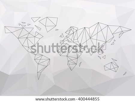 World map simple connection polygon vector stock vector 2018 world map simple connection polygon vector illustration gumiabroncs Gallery